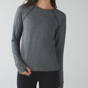 Lululemon Speckled Black Crew Love Pullover 6